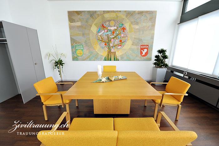 Ceremony room in Stadthaus Kloten