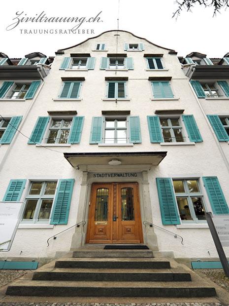 Stadthaus Wädenswil, Eingang