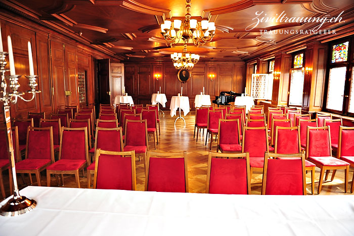 There's room for a lot of guests in the Zunftsaal; seated or standing